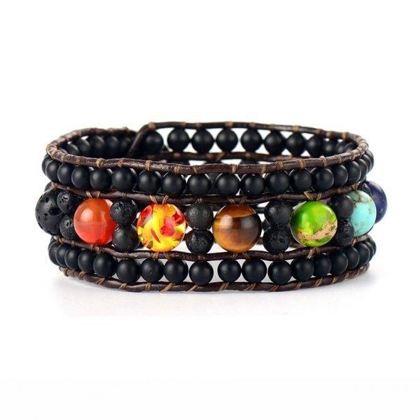 Handgemaakte bohemian chakra armband