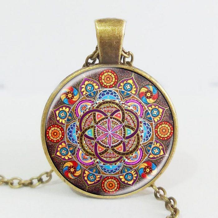 Mandala hanger met ketting