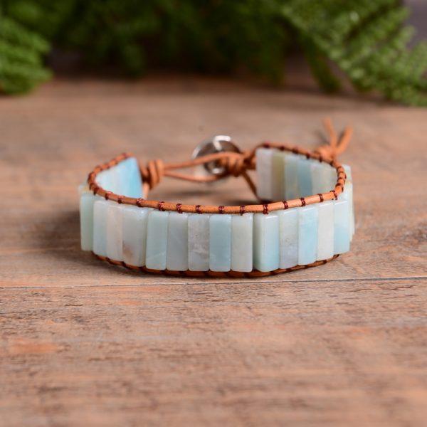 Bohemian armband met amazoniet edelstenen