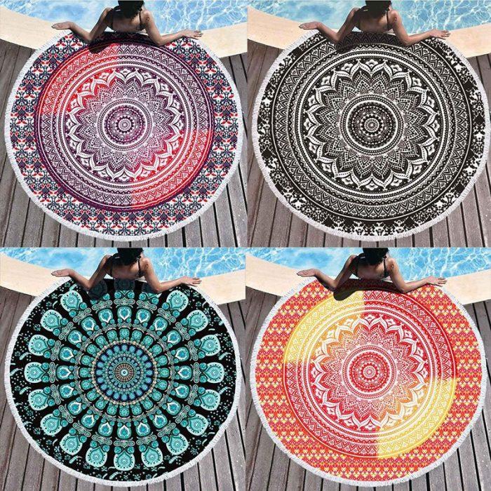 Mandala strandlaken katoen met kwastjes
