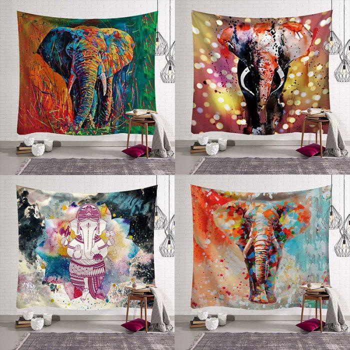 Mandala wandkleed olifant