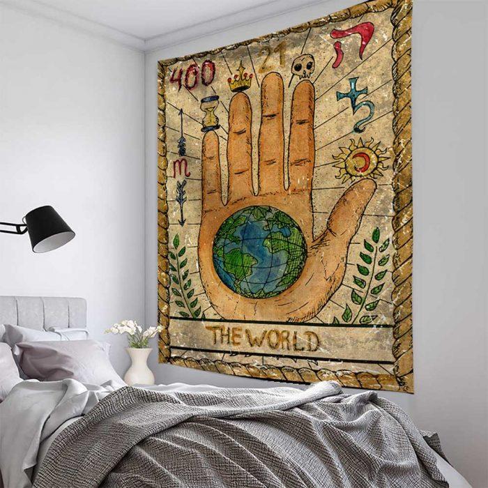 Voorbeeld wandlaken Tarot aan de muur