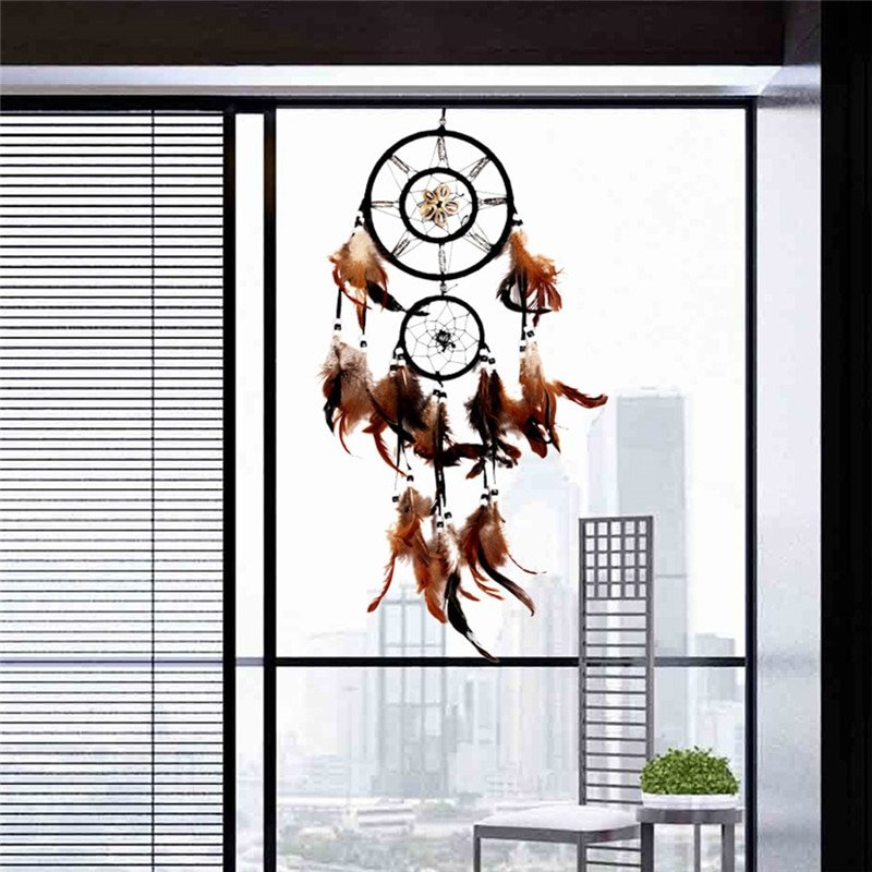 Bruine dreamcatcher - dromenvanger Groot voor het raam