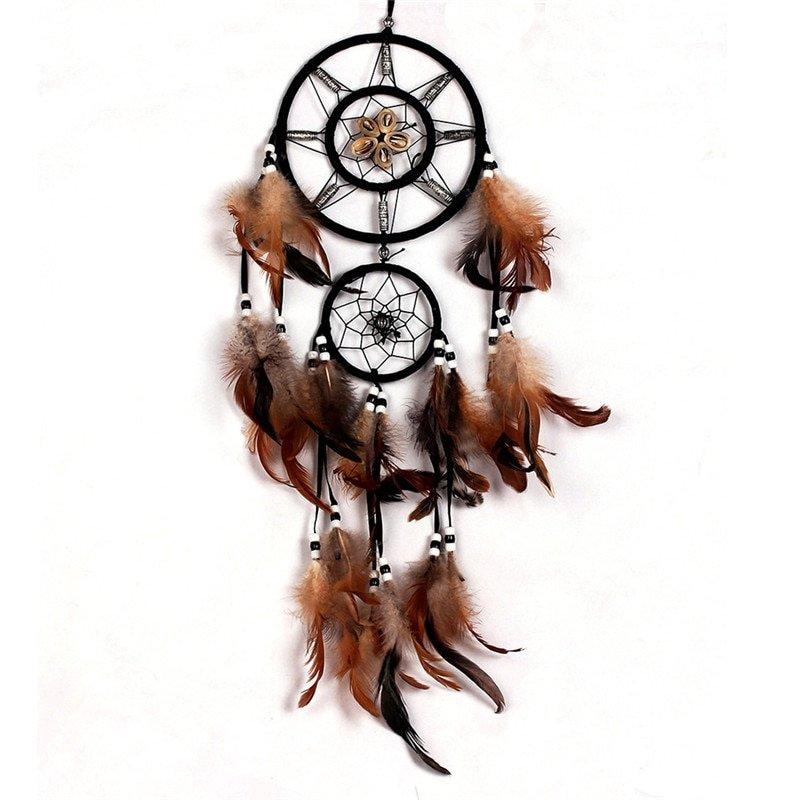 Bruine dreamcatcher - dromenvanger Groot